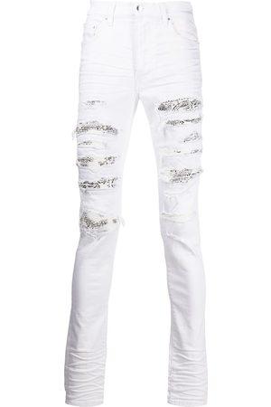 AMIRI Bandana-detail distressed-effect jeans