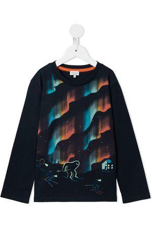 Paul Smith Junior Boys Long Sleeve - Graphic-print longsleeved T-shirt
