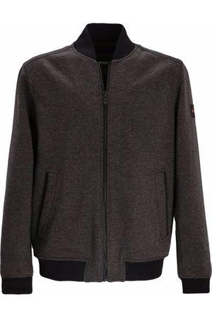 BOSS Men Bomber Jackets - Logo-patch zip-up bomber jacket - Grey