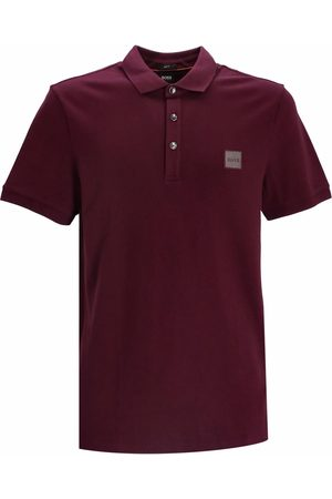 BOSS Logo-patch short-sleeved polo shirt