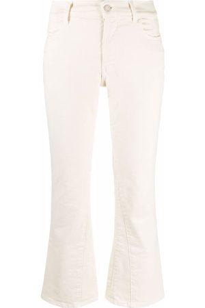 Andrea Ya'aqov Mid-rise flared jeans - Neutrals