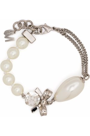 MM6 Maison Margiela Women Bracelets - Crystal and pearl-embellished bracelet