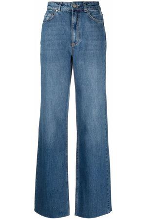 12 STOREEZ Women High Waisted - High-rise wide-leg jeans