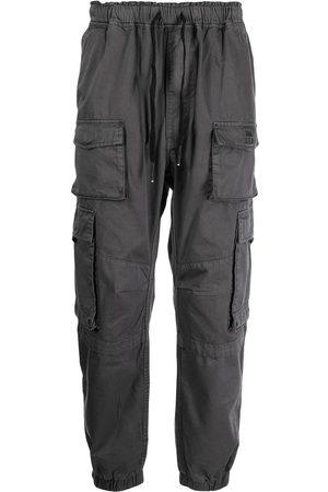 izzue Men Cargo Pants - Tapered-leg cargo trousers - Grey