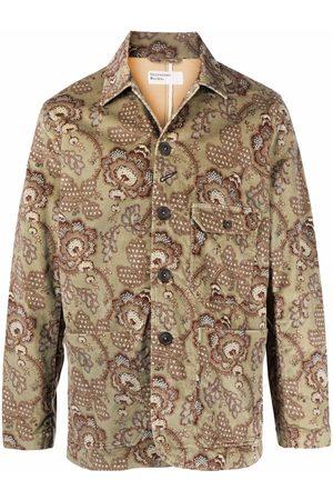 Universal Works Men Blazers - Floral-print buttoned-up jacket