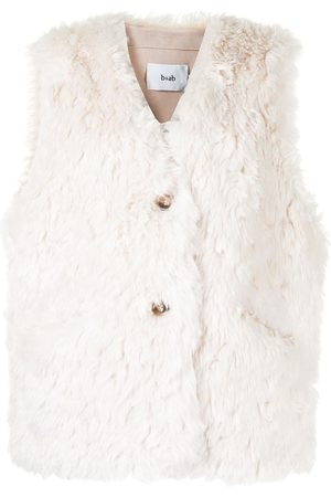 B+AB Faux-fur detail sleeveless coat