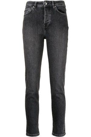 IRO Women Skinny - Mid-rise slim-cut jeans - Grey