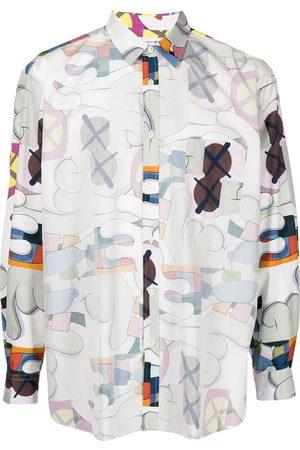 Comme Des Garçons Shirt Men Long Sleeve - Graphic-print longsleeved T-shirt - Multicolour
