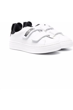 Moschino Kids Sneakers - Logo-print touch-strap sneakers