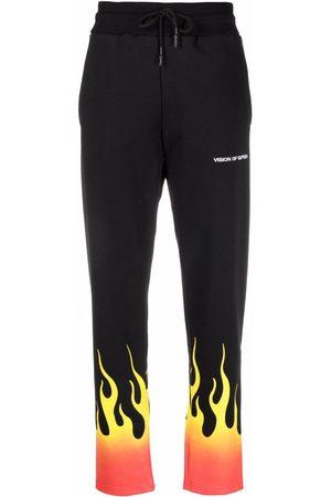 Vision Of Super Women Sweatpants - Flame-print track pants