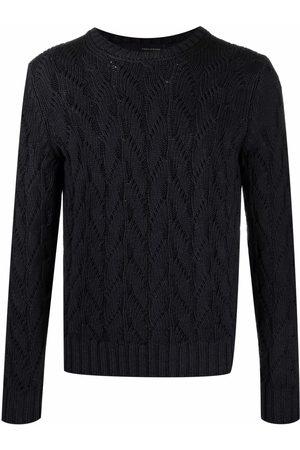 Tagliatore Men Sweatshirts - Crewneck cable-knit sweater
