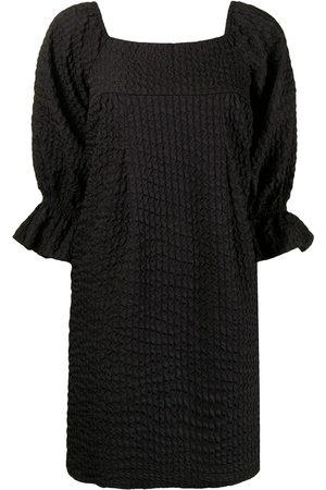 b+ab Textured-finish square-neck dress