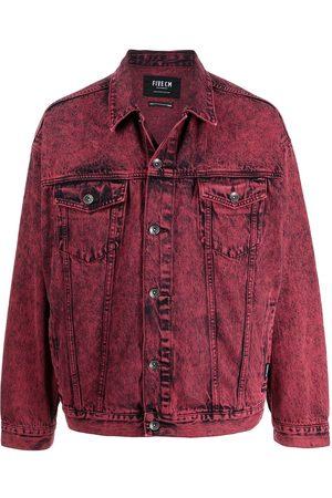 FIVE CM Men Denim Jackets - Acid-wash denim jacket