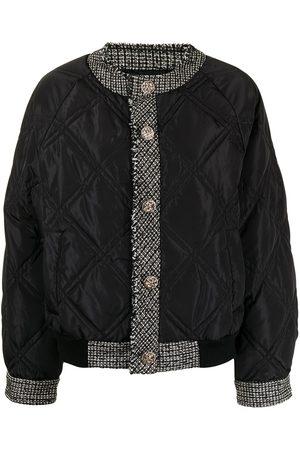 B+AB Women Jackets - Tweed-trim quilted jacket