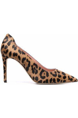 Victoria Beckham Women Heels - VB leopard 90mm pumps - Neutrals