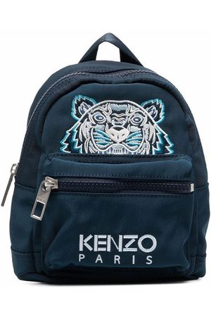 Kenzo Men Rucksacks - Mini logo-embroidered backpack