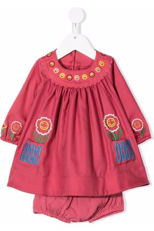 Stella McCartney Kids Embroidered-happy flowers dress