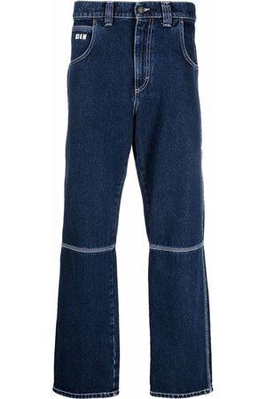 MSGM Dark-wash straight-leg jeans