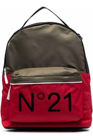 Nº21 Kids TEEN logo-print backpack