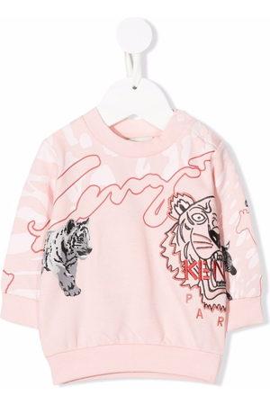 Kenzo Kids Embroidered-logo sweatshirt