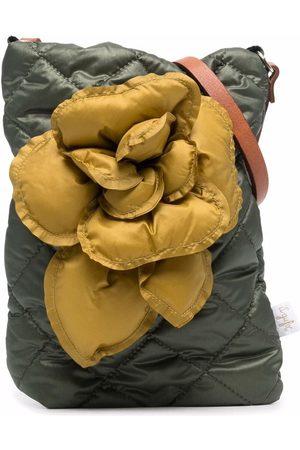 Il Gufo Flower-detail quilted shoulder bag