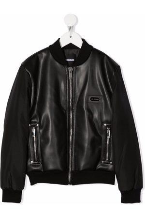 Les Hommes Zipped-up bomber jacket