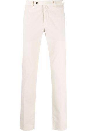 Pt01 Men Skinny Pants - Corduroy slim-fit trousers - Neutrals