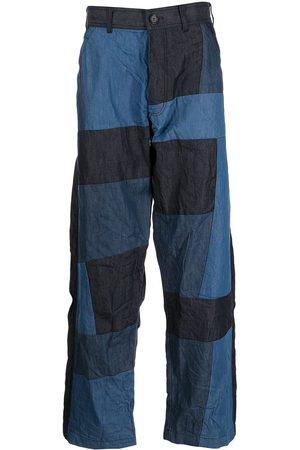 Comme Des Garçons Shirt Men Wide Leg Pants - Patchwork wide-leg trousers