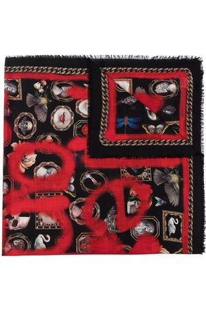 Alexander McQueen Women Scarves - Logo embroidered scarf