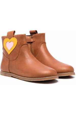 Camper Kids Ankle Boots - Heart patch ankle boots