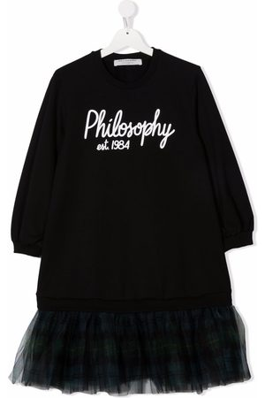 Philosophy Di Lorenzo Serafini Kids Girls Casual Dresses - TEEN logo-print sweater dress