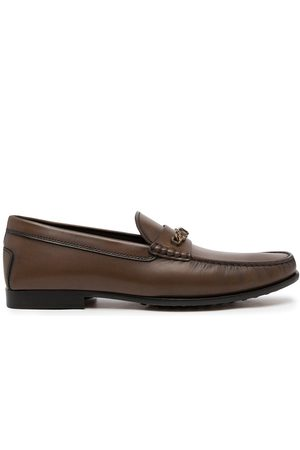 Tod's Chain-embellished leather loafers