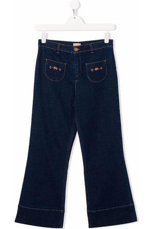Elisabetta Franchi La Mia Bambina TEEN flared denim jeans