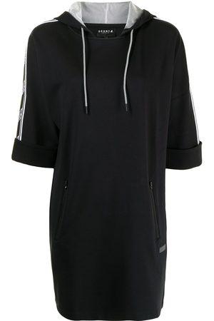 SPORT b. by agnès b. Flash Tape logo-trim hoodie dress