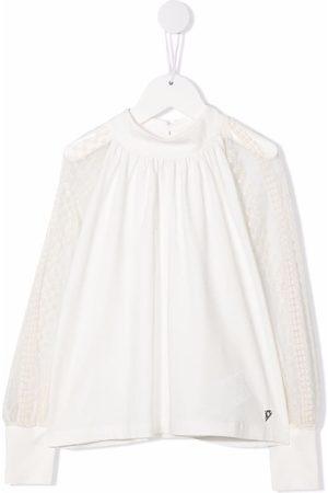 DONDUP KIDS Round neck long-sleeved blouse