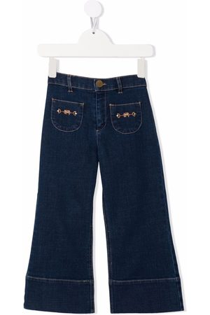 Elisabetta Franchi La Mia Bambina Flared denim jeans