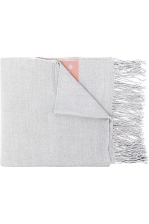 AGNÈS B. Dino fringed scarf - Grey