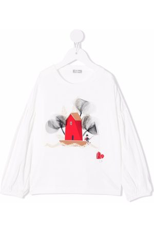 Il Gufo Long Sleeve - Graphic-print longsleeved T-shirt