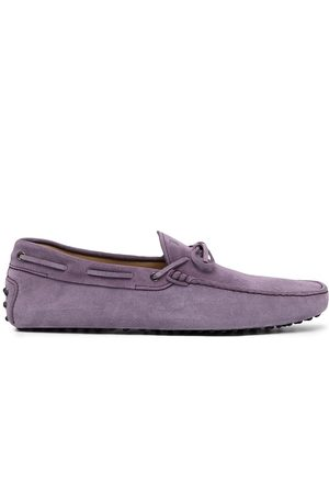 Tod's Men Loafers - Gommino lace-up suede loafers