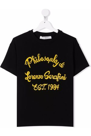 Philosophy Di Lorenzo Serafini Kids Short Sleeve - TEEN logo-print short-sleeved T-shirt