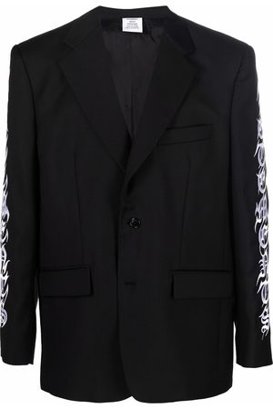 VETEMENTS Embroidered single-breasted blazer
