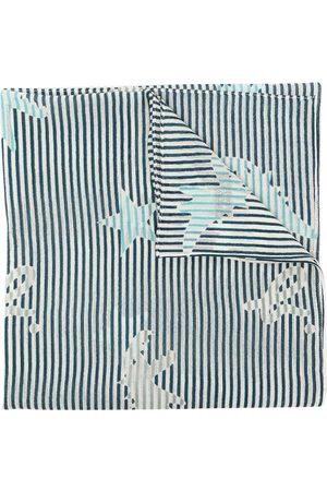 AGNÈS B. Striped wool scarf