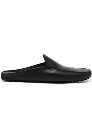Tod's Men Slippers - Sabot leather slippers