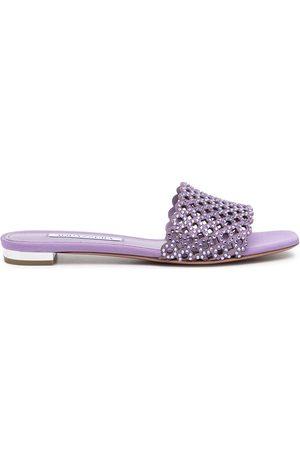 Aquazzura Women Flat Shoes - Crystal Candy flat sandals