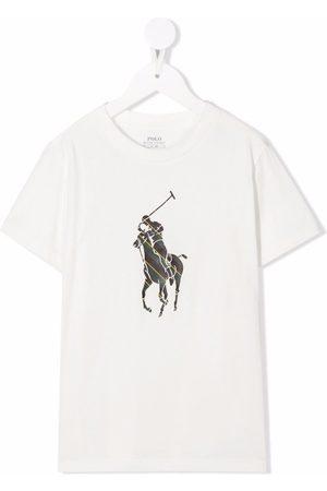 Ralph Lauren Kids Boys Polo Shirts - Polo-pony-print T-shirt