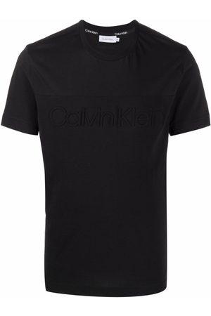 Calvin Klein Short-sleeved logo-embossed T-shirt
