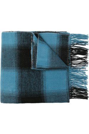AGNÈS B. Check-print fringed scarf