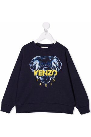 Kenzo Kids Boys Hoodies - Logo-print sweatshirt