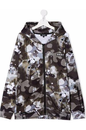 Dkny Kids Hoodies - Camo print hoodie
