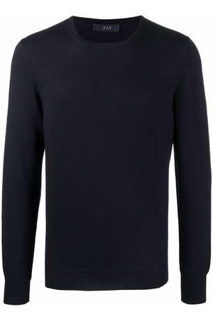 Fay Crewneck fine-knit wool jumper